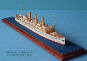 Waterline ship models from exotic wood - no paint