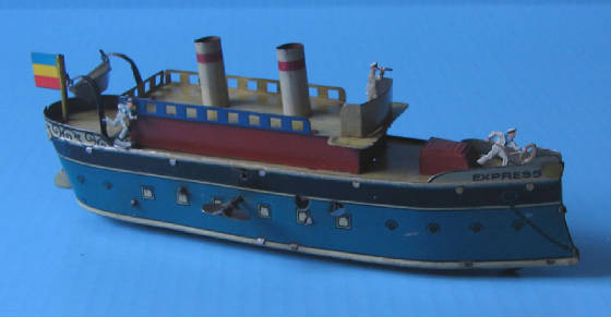 Toy clockwork ocean liner