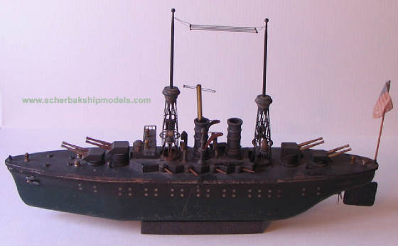 Orkin battleship New Mexico clockwork toy boat