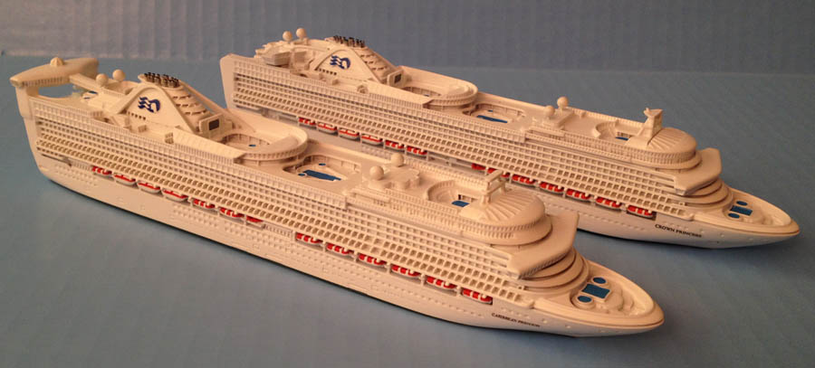 Caribbean & Crown Princess cruise ship models.jpg