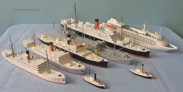 Collect ocean liner  wood models made by Scherbak