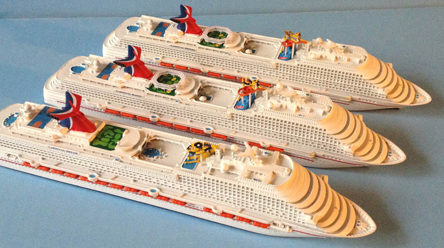 Carnival Dream, Magic, Breeze cruise ship models