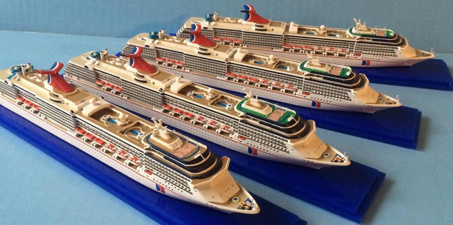 Collectors Series CARNIVAL SPIRIT Class Cruise Ship Models - Carnival cruise ship classes