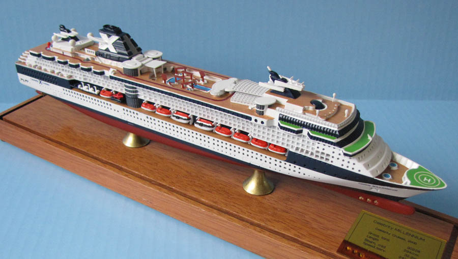 Celebrity Millennium cruise ship model
