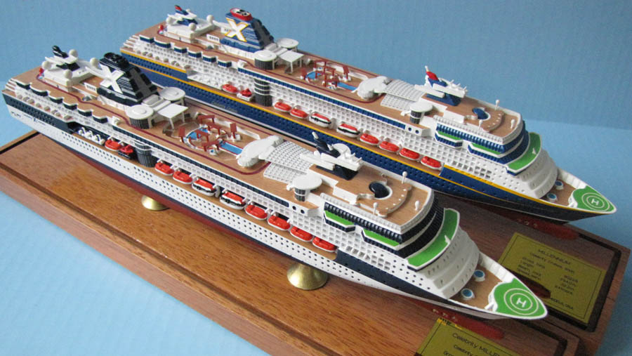 Celebrity MIllennium cruise ship scale model