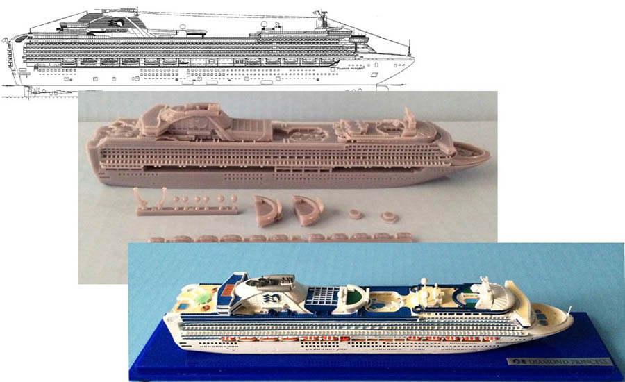 Corporate order cruise ship models