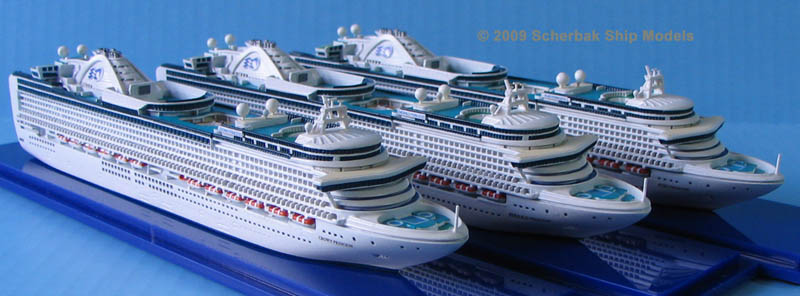 Crown Princess subclass models -3 cruise ships