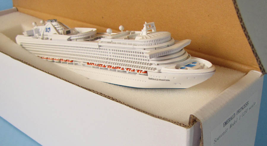 Emeral Princess cruise ship model