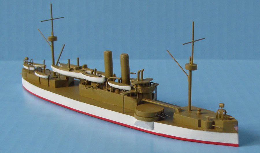 US Navy battleship Maine ID ship model 1:500 scale