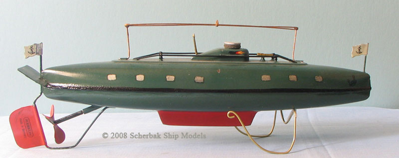 Marklin tin toy wind up submarine.jpg
