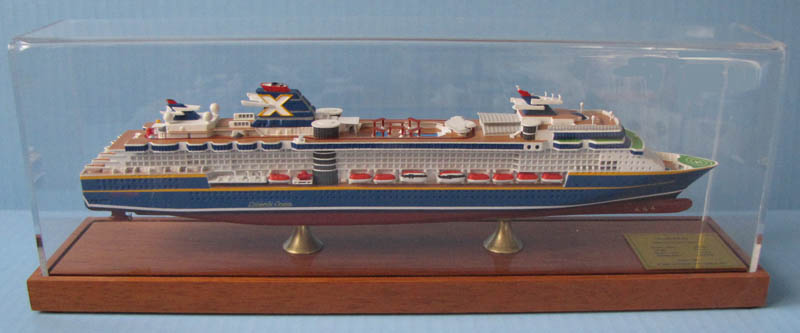 Millennium cruise ship scale model as built
