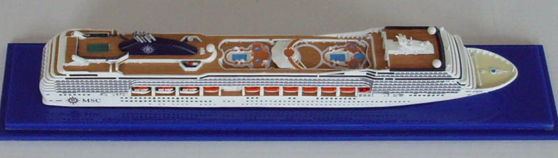 MSC Poesia cruise ship model 1:1250 scale