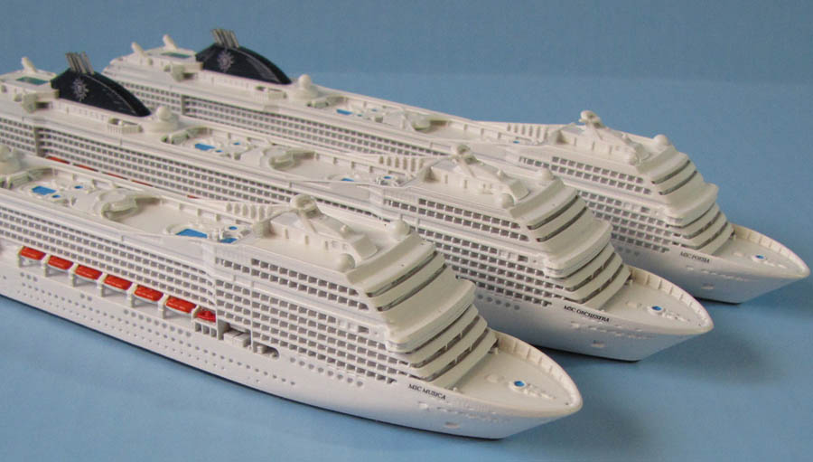 MSC Musica class cruise ship models