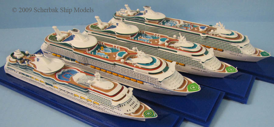 Royal Caribbean cruise ship models collection
