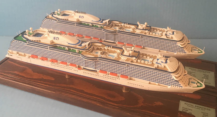 Royal and Regal Princess cruise ship models