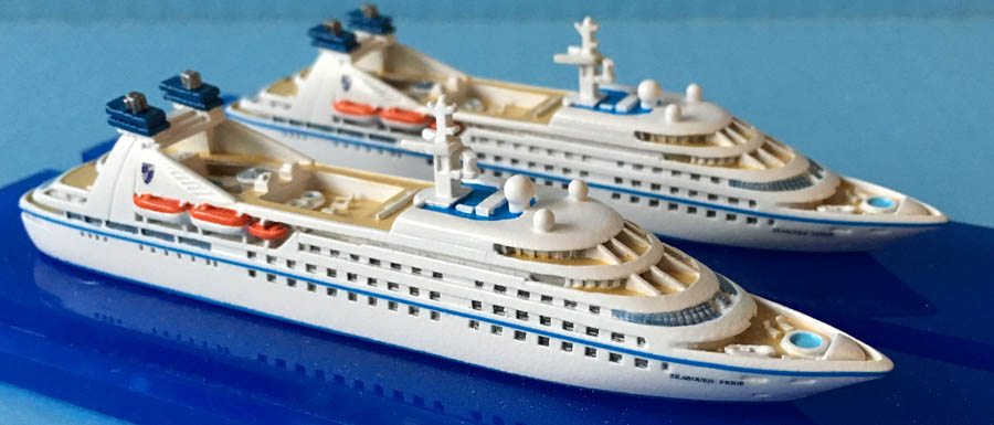 Seabourn Pride and Spirit cruise ship models 1250