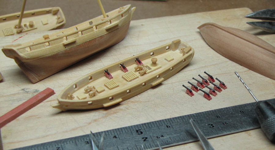 Baltimore clipper ship model 1:384 scale