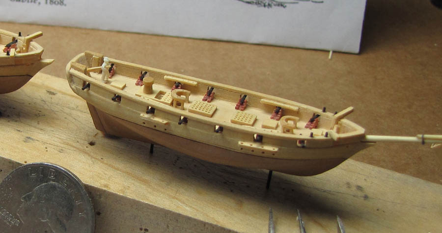 Schooner SUBTLE (1812) model in sclae 1:384